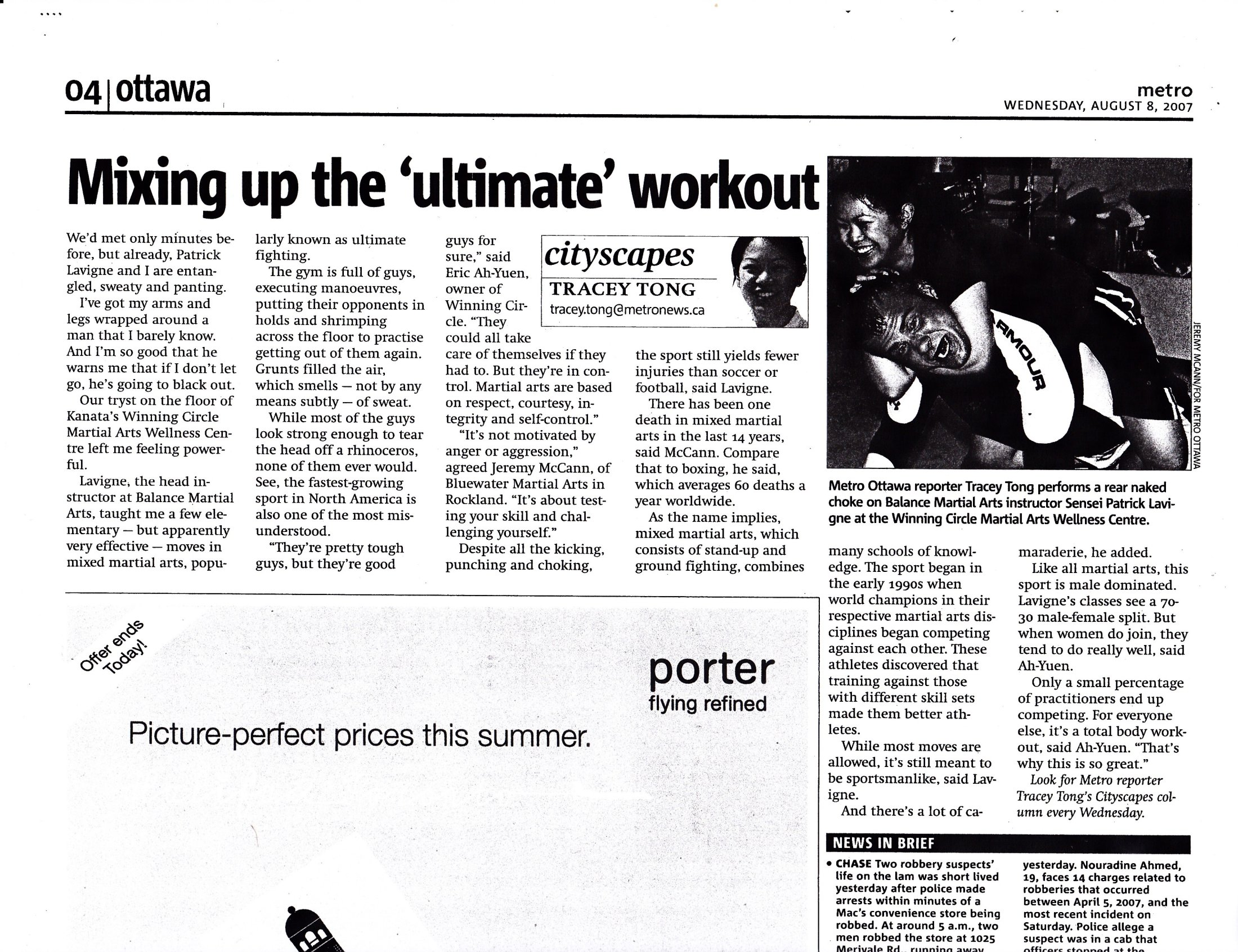 "Metro Ottawa 2007 ""Mixing up the \'Ultimate\' workout\"""