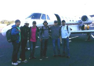 John Huh, Kevin Streelman, Martin Flores, Robert Garrigus and AJ Montecinos